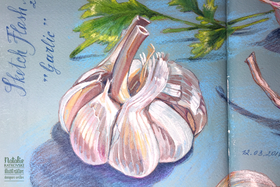Garlic, detail