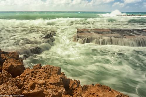 cyprus pathos seascape beach rocks