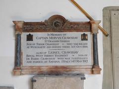 Remembrance plaque.