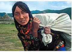 Nomadic Woman #IWD2017 #climate  Plateau of  Tibet Photo :copyright:anaelisafuentes