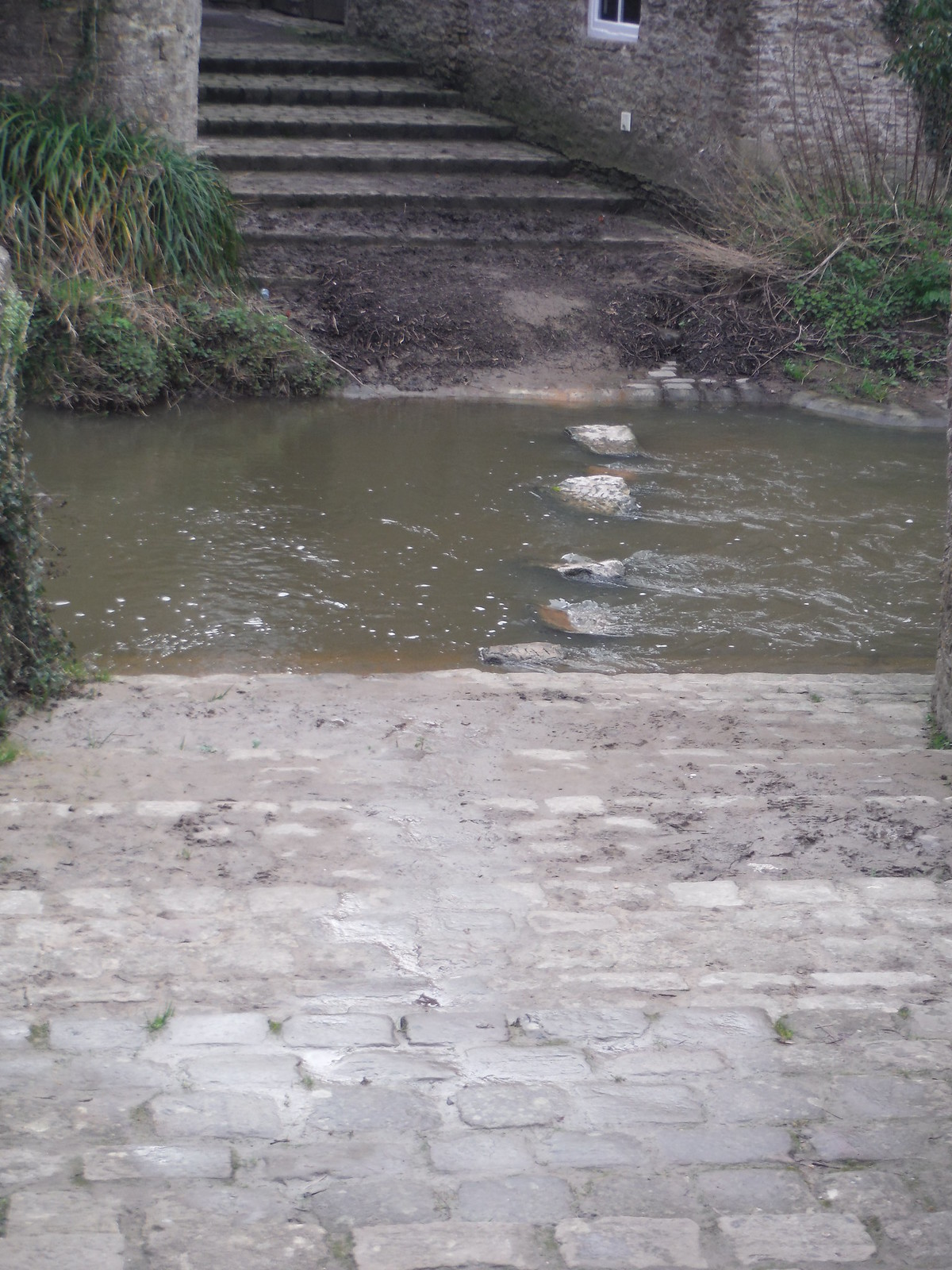 Stepping Stones, River Brue, Bruton SWC Walk 284 Bruton Circular (via Hauser & Wirth Somerset) or from Castle Cary
