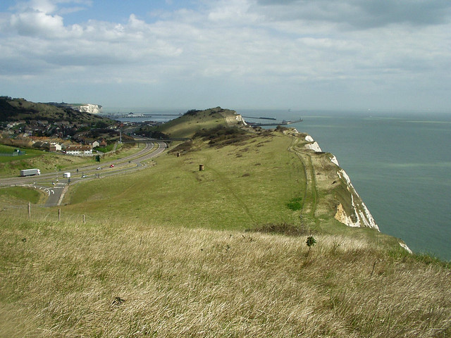 The coast west of Dover