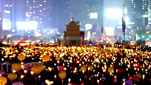 탄핵을 이끌어낸 위대한 촛불 혁명