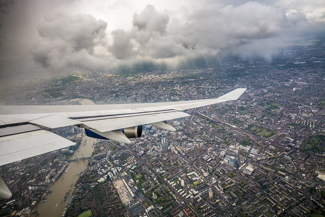 Banking over central London
