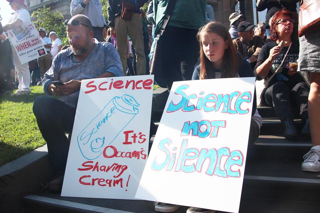 Science. It's Occam's shaving cream - Melbourne #MarchforScience on #Earthday