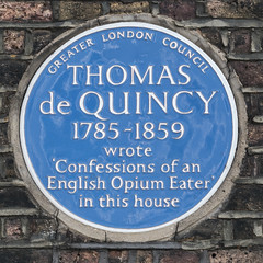 Photo of Thomas De Quincey blue plaque