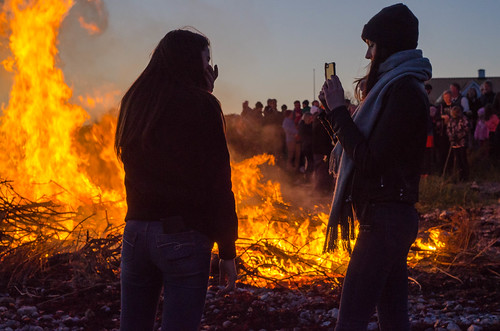 Walpurgis bonfire in Hittarp last night