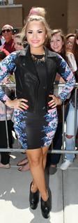 Demi Lovato Leather Vest Celebrity Style Women's Fashion