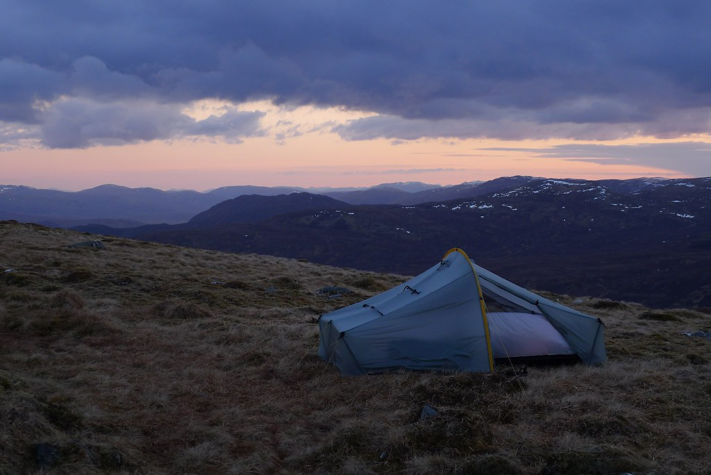 Tent at sundown
