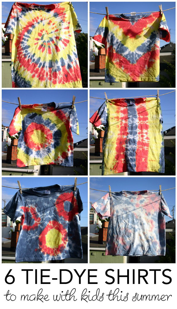 b47f1d7cd3e1 Tie Dye Tutorial  6 Tie Dye Shirts to Make with Kids this Summer ...