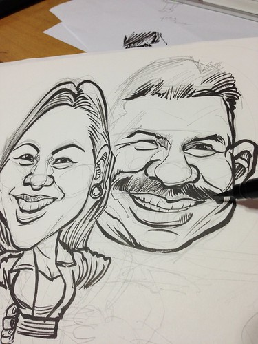 Titanic posture couple caricatures -- You Jump. I Jump! sketching progress