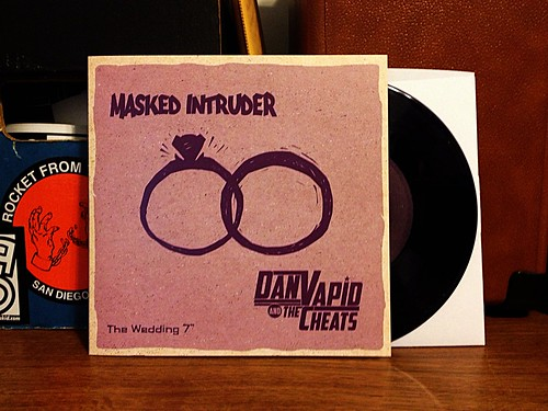 "Masked Intruder / Dan Vapis & The Cheats - The Wedding 7"" - Purple Vinyl (/100) by Tim PopKid"