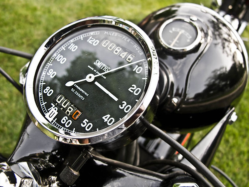 Matchless motorcycle speedometer