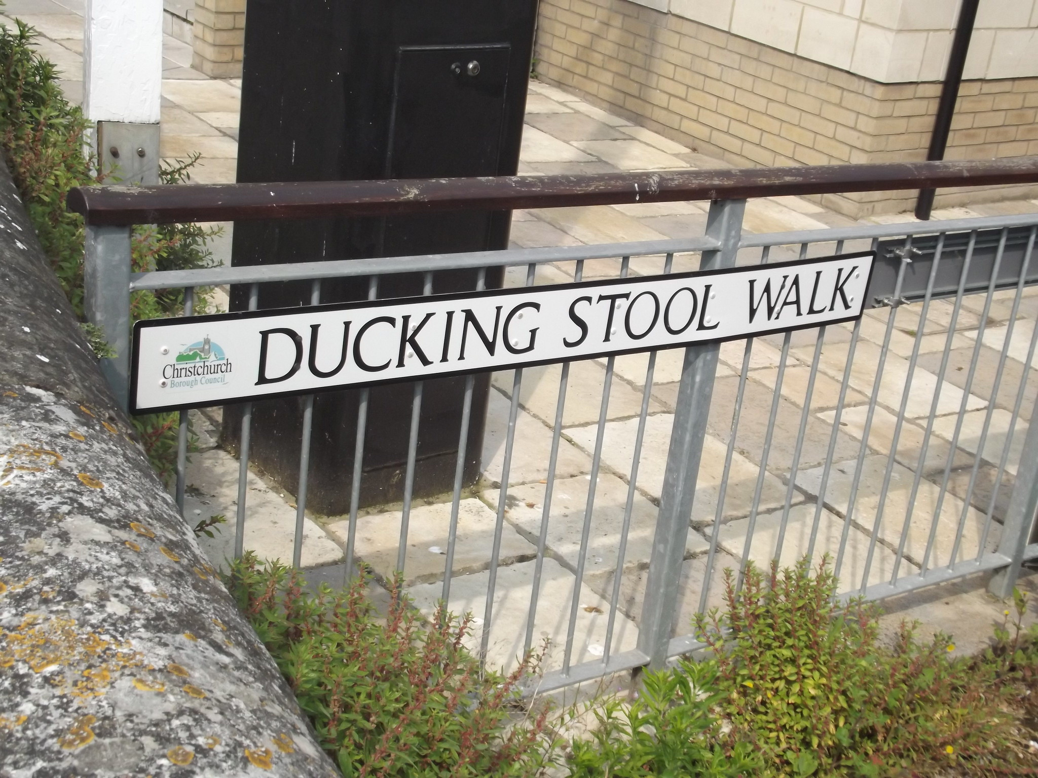 Ducking Stool Walk Christchurch Road Sign Flickr