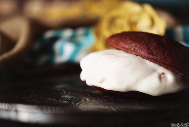Red Velvet Ice Cream Sandwiches via PasstheSushi.com