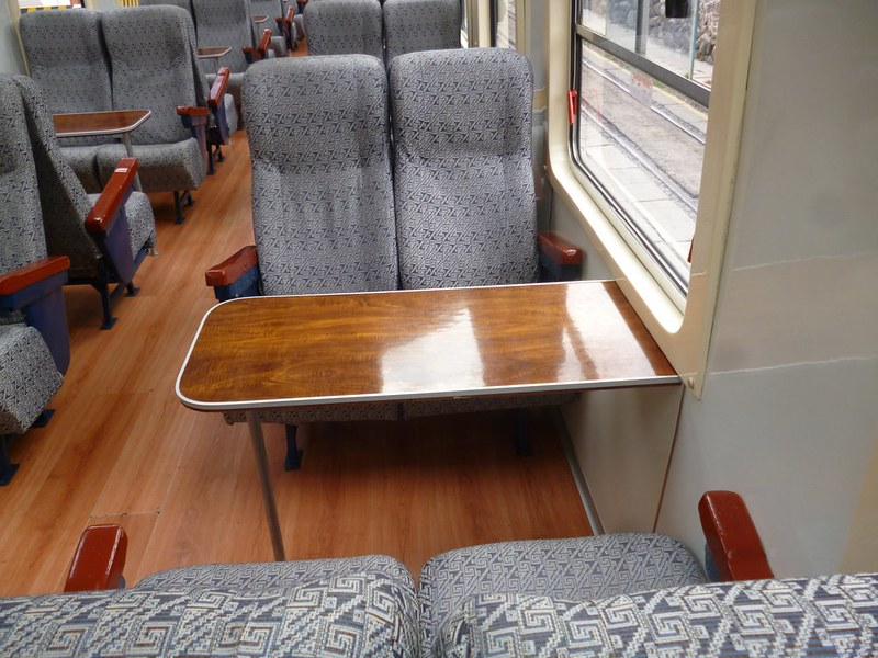 Seats on Expedition class train to Machu Picchu