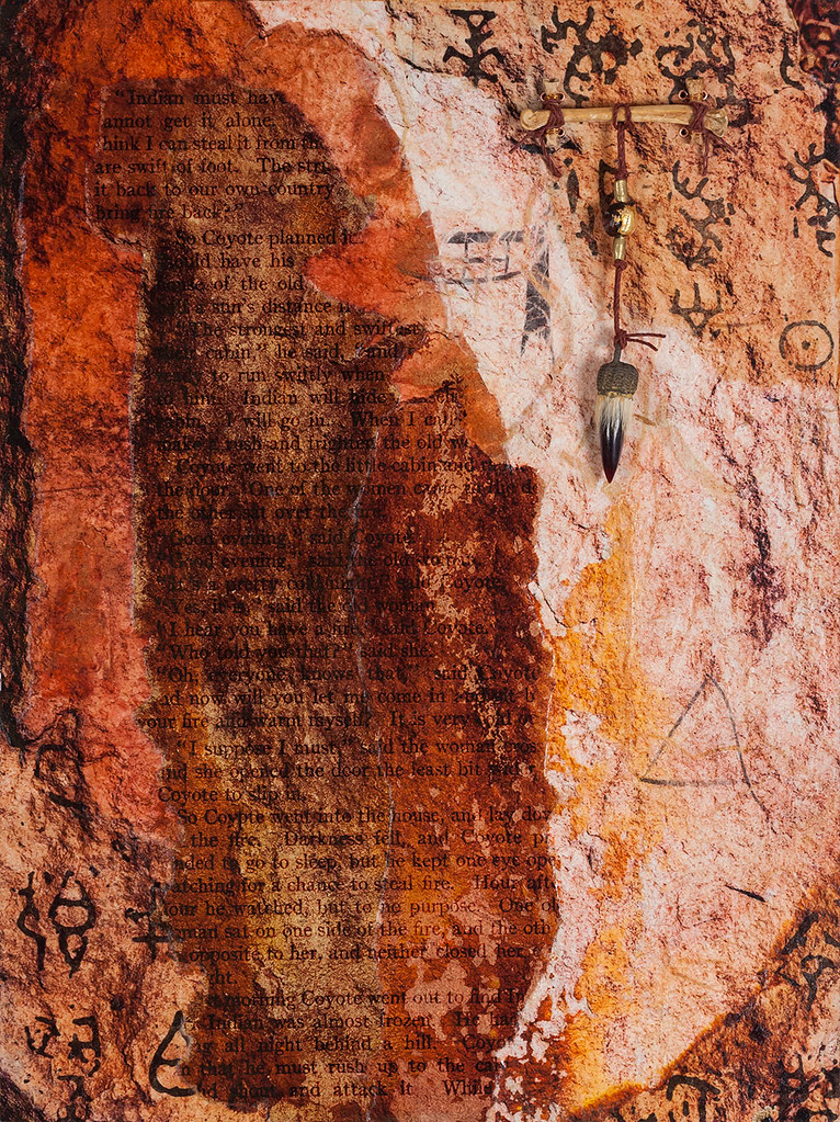 16 x 12 mixed media inspired by rock in Escalante Petrified Forest (Sold)