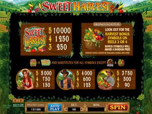 free Sweet Harvest slot payout