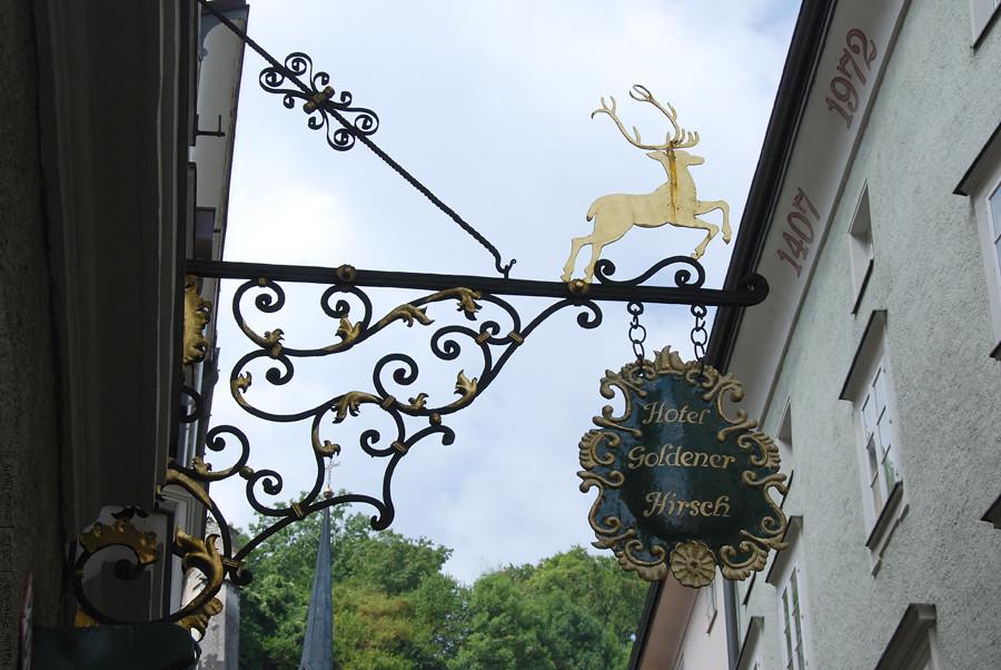 Signs of Salzburg, Austria