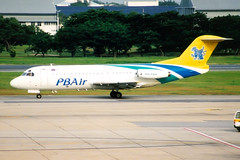 PB Air, Fokker F.28-4000, HS-PBA, Bangkok Don Muang