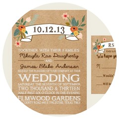 Brown Paper Wedding Invitation