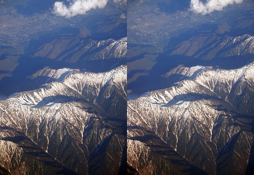 Mount Kisokoma, stereo parallel view