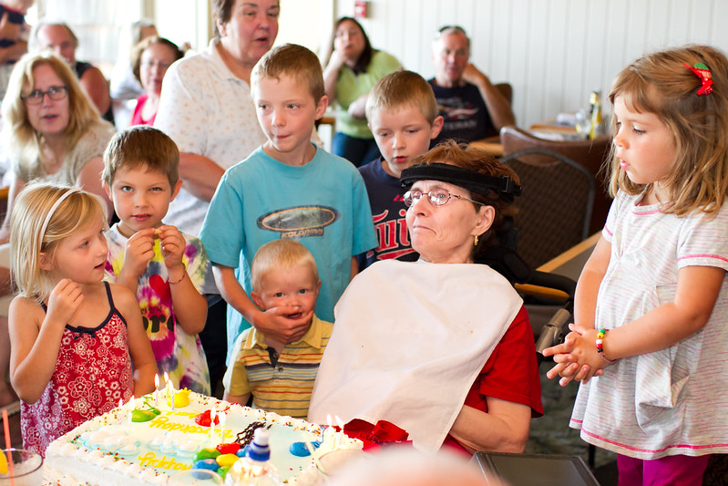 The Grandkids singing Happy Birthday