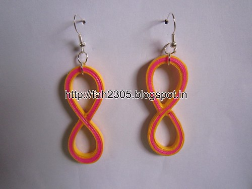 Handmade Jewelry - Paper Quilling Figure Eight Earrings (Free Form Quilling) (1) by fah2305