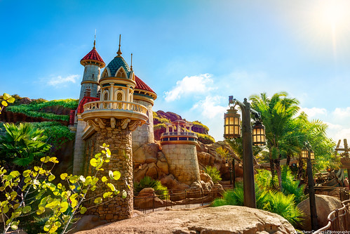 morning light sun clouds morninglight seaside nikon bluesky disney disneyworld tropical wdw waltdisneyworld hdr magickingdom littlemermaid fantasyland d800 goldenlight matthewcooper princeeric princeericscastle journeyunderthesea