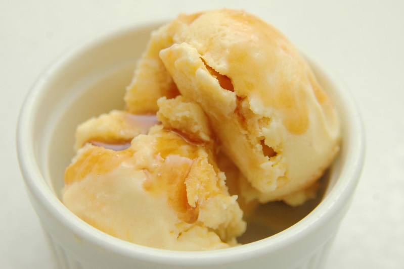 recipe: peaches and cream ice cream! I.