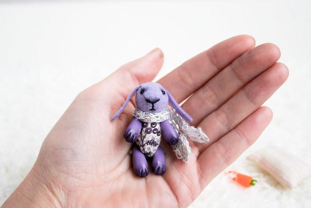 tiny violet bunny
