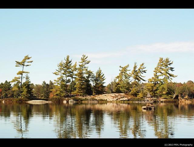 Inukshuk on Wolf Lake