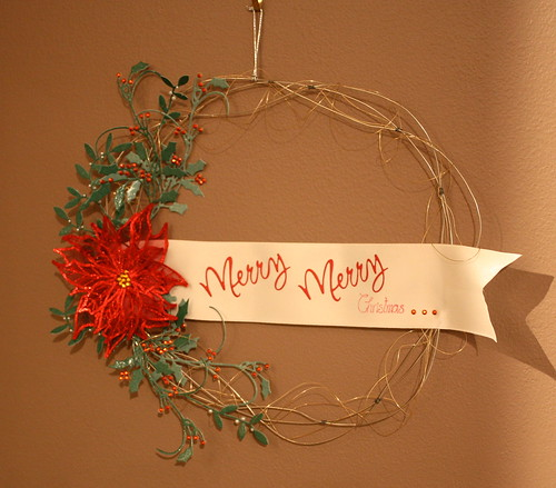 Christmas wire wreath