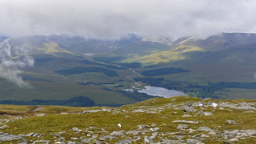Loch Dochard and Loch Tulla