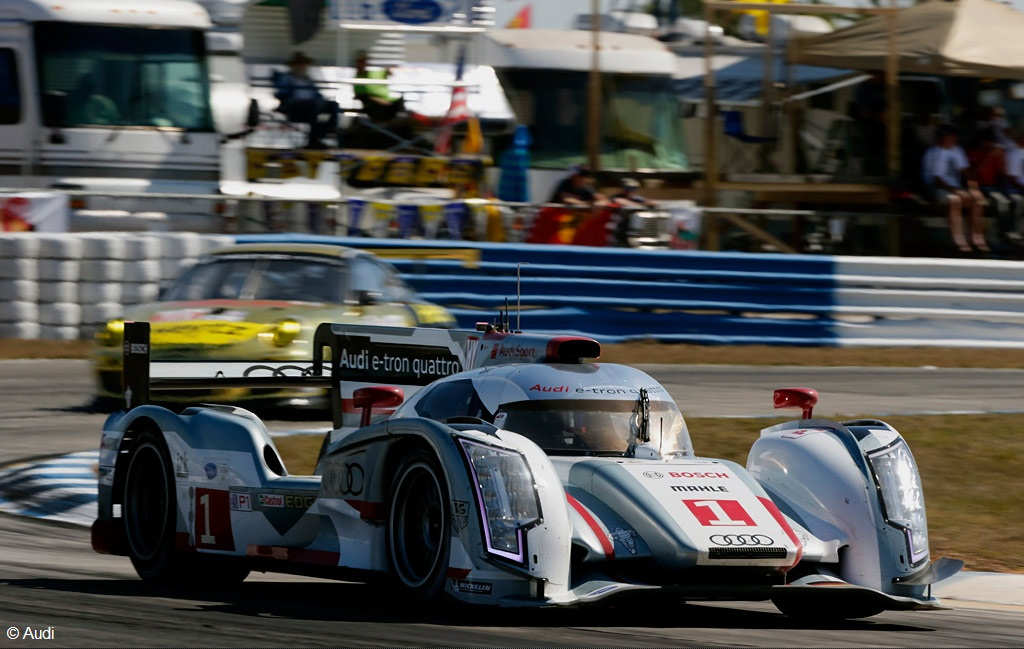 Since 2009 Audi Only Took Part In The Major Endurance Events 12 Hours Of Sebring And Petit Le Mans Won At With Brand New R15