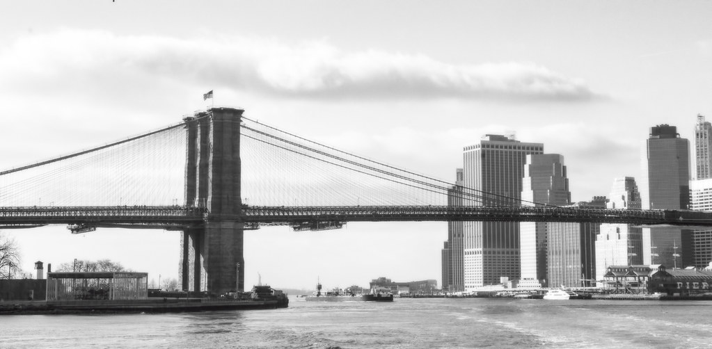 B^3 - Black and White Brooklyn Bridge