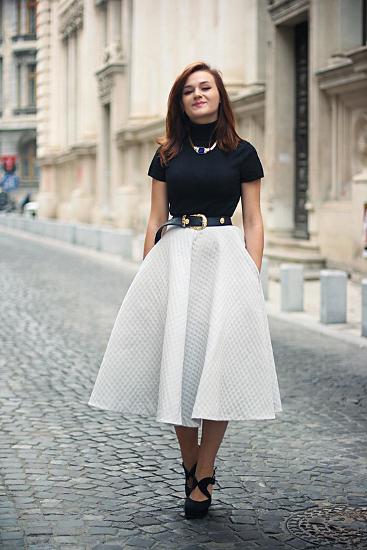 h&m full midi skirt 6
