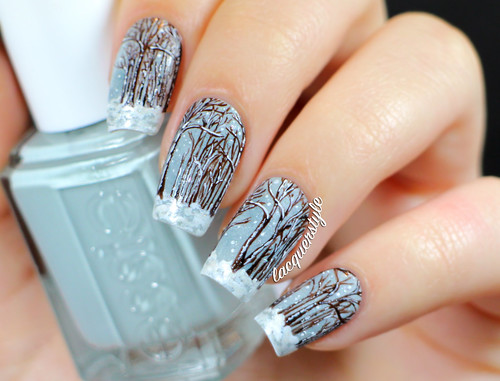 Lacquerstyle winter forest snow nail art img2392 3 prinsesfo Gallery
