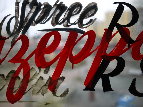 Sign Painting workshop with Mike Meyer, Berlin