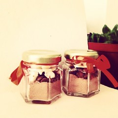 Homemade hot chocholate jars