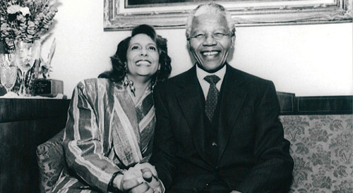 Radio One owner Cathy Hughes with Nelson Mandela. She has issued a statement in response to his passing. by Pan-African News Wire File Photos