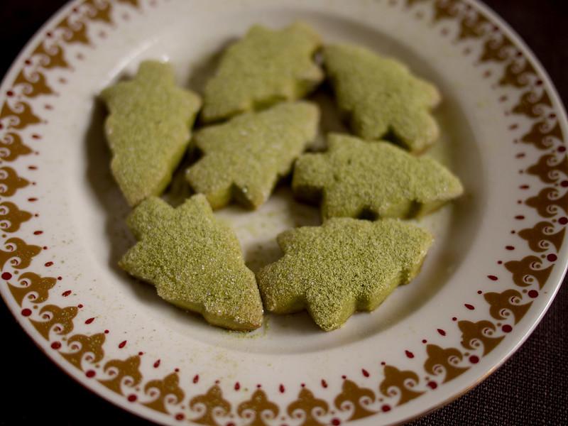 Green tea shortbread