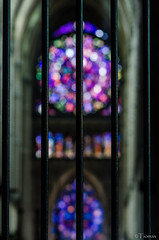Stained glass bokeh.