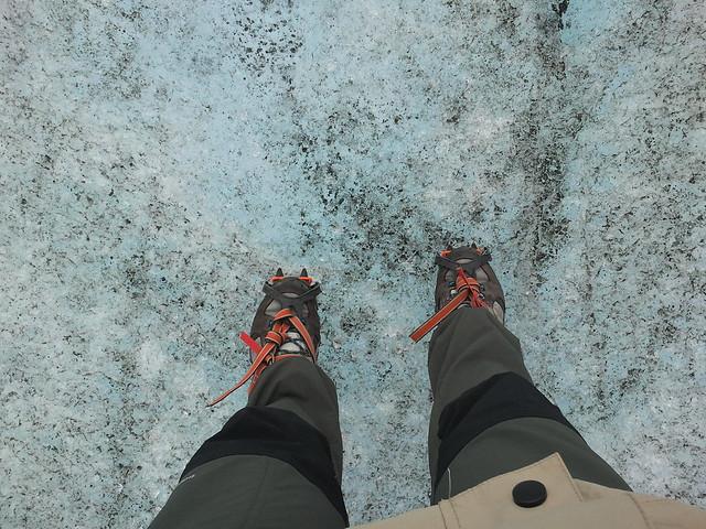 crampones glaciar islandia Fjallsárlón
