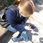 Emily enjoying nature