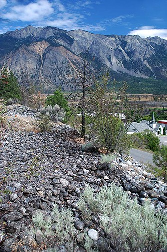 Chinese Rock Piles at Hangman's Tree Park, Lillooet, Cariboo, British Columbia