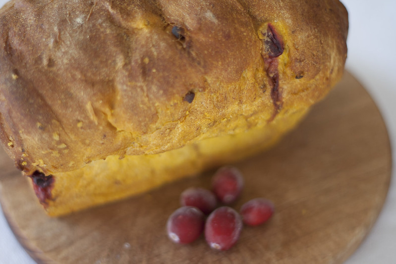 pumpkin, cranberry, walnut bread
