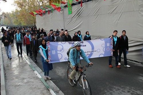 Symbolic walk of professors alongside students on the campus of Tehran University of Medical Sciences !
