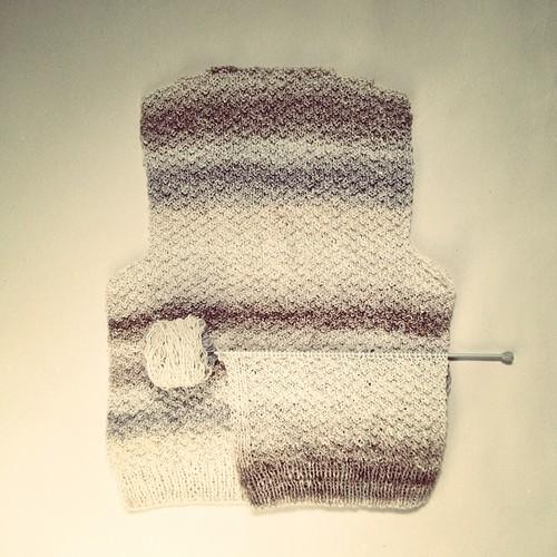Je tricote un gilet #tricot #knitting