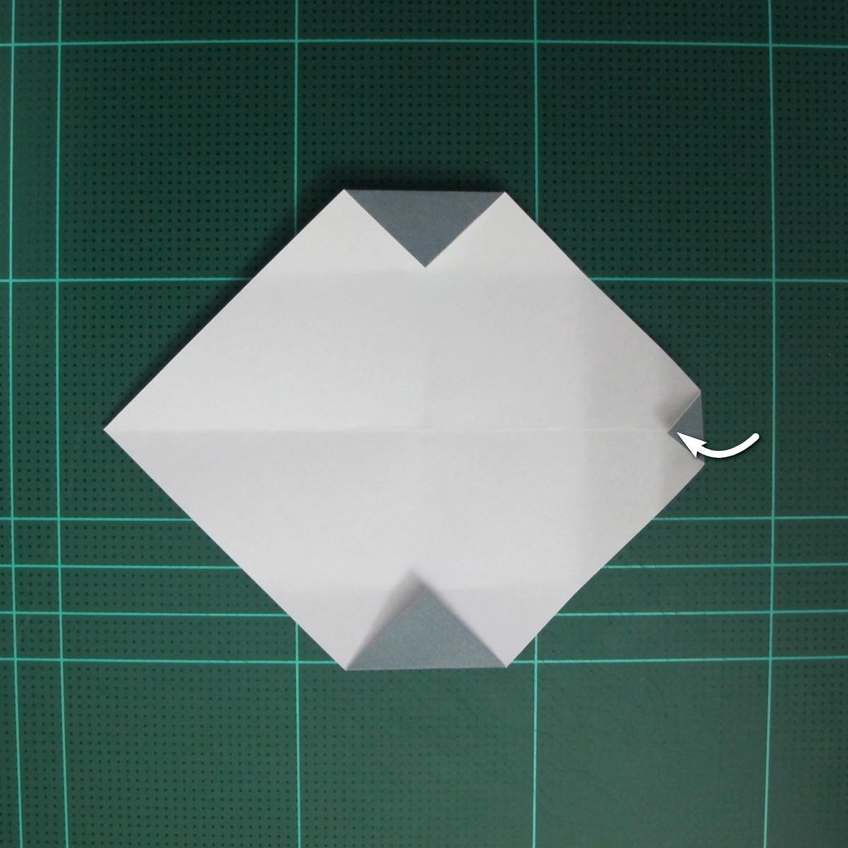 วิธีพับกระดาษเป็นรูปลูกสุนัข (แบบใช้กระดาษสองแผ่น) (Origami Dog) 016